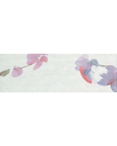 Koupelnový obklad barevný lila Sole Buganvilla 25x75 cm lesk výrobce Fap / Petali Blanco dekore cena za 1/m2