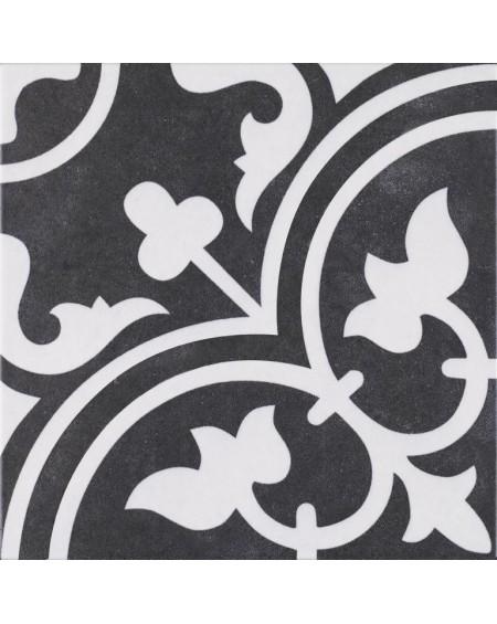 Dlažba obklad se vzorem art retro patchwork matná Arte Black 25x25cm výrobce Codicer