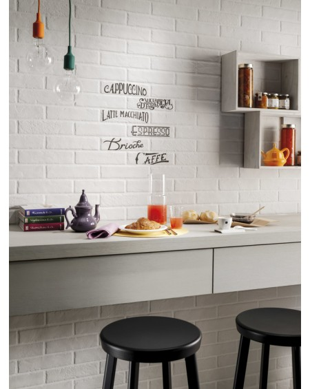 Dlažba obklad brick matná Tribeca white 6x25cm výrobce Rondine dekore breakfast mix