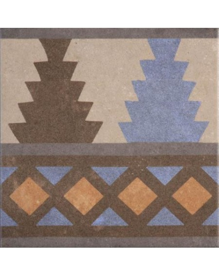 Dlažba obklad se vzorem art Retro Cenefa 04 patchwork matná 25x25cm výrobce Codicer