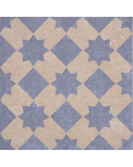 Dlažba obklad se vzorem art Retro 01 patchwork matná 25x25cm výrobce Codicer blue