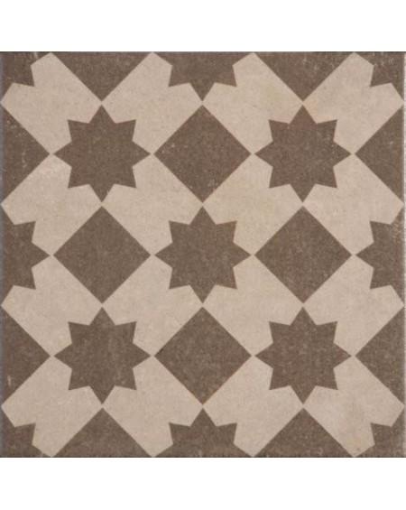 Dlažba obklad se vzorem art Retro 02 patchwork matná 25x25cm výrobce Codicer
