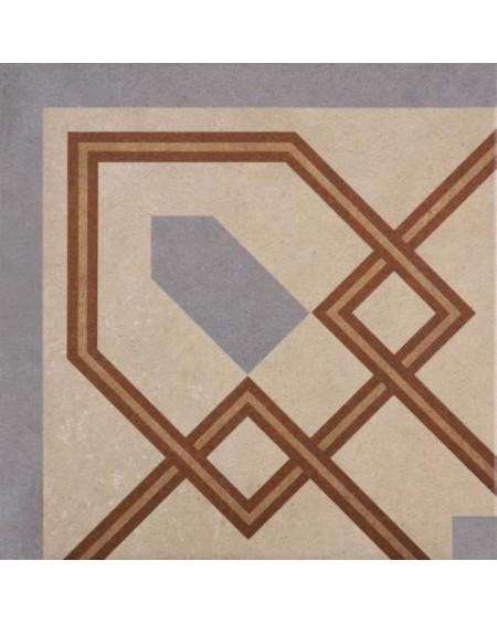 Dlažba obklad se vzorem art Retro Angulo 12 patchwork matná 25x25cm výrobce Codicer