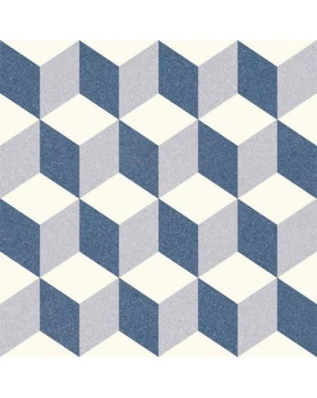 Dlažba obklad se vzorem Riviera Antibes Blue art retro patchwork polomatná 25x25cm výrobce Codicer 3D