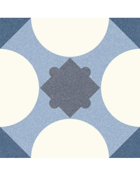 Dlažba obklad se vzorem Riviera Cannes Blue art retro patchwork polomatná 25x25cm výrobce Codicer