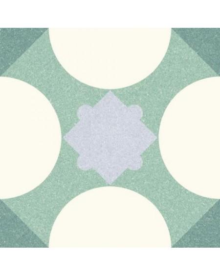 Dlažba obklad se vzorem Riviera Cannes Green art retro patchwork polomatná 25x25cm výrobce Codicer