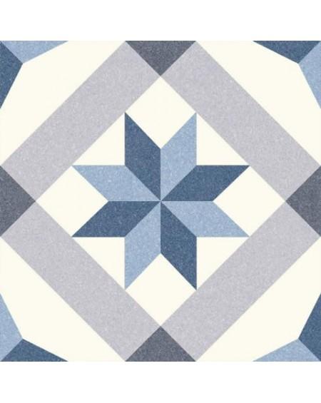 Dlažba obklad se vzorem Riviera Menton Blue art retro patchwork polomatná 25x25cm výrobce Codicer