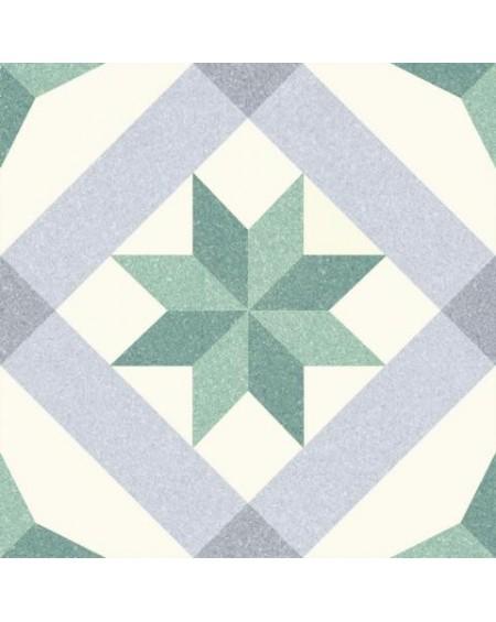 Dlažba obklad se vzorem Riviera Menton Green art retro patchwork polomatná 25x25cm výrobce Codicer