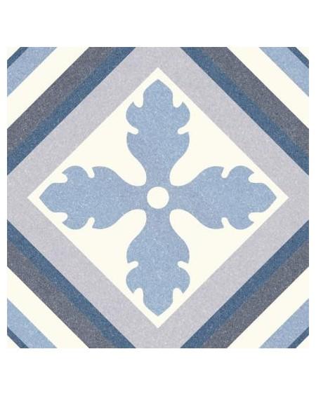 Dlažba obklad se vzorem Riviera St Tropes Blue art retro patchwork polomatná 25x25cm výrobce Codicer