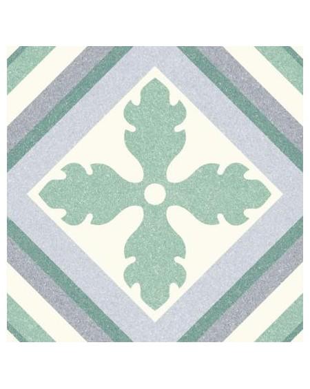 Dlažba obklad se vzorem Riviera St Tropes Green art retro patchwork polomatná 25x25cm výrobce Codicer