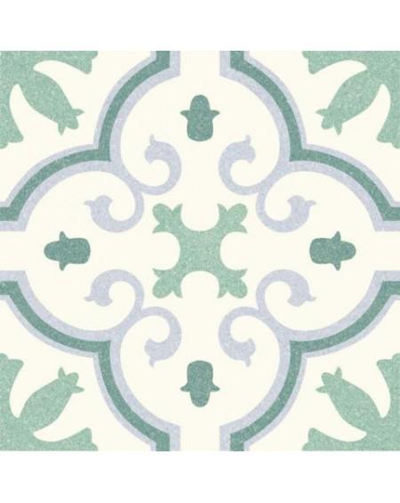 Dlažba obklad se vzorem Riviera Montecarlo Green art retro patchwork polomatná 25x25cm výrobce Codicer