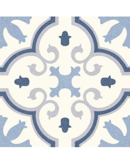 Dlažba obklad se vzorem Riviera Montecarlo Blue art retro patchwork polomatná 25x25cm výrobce Codicer