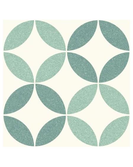 Dlažba obklad se vzorem Riviera Nice Green art retro patchwork polomatná 25x25cm výrobce Codicer