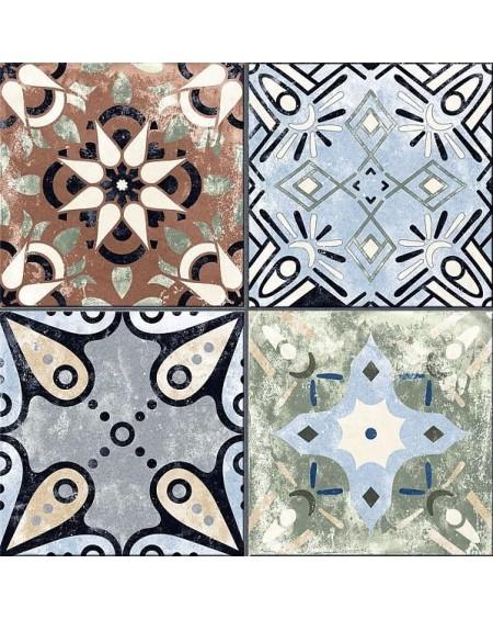 Dlažba obklad patina Xerea Colors mix 25x25cm Maiolica patchwork polomatná výrobce Codicer