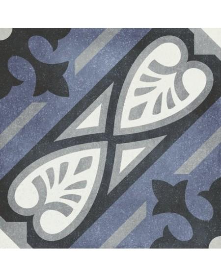 Dlažba obklad se vzorem Art retro patchwork Camille Fleur 15x15cm modrobílá výrobce Carmen