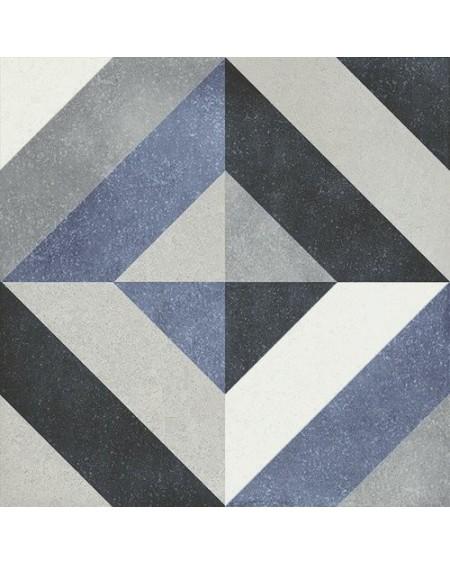 Dlažba obklad se vzorem Art retro patchwork Geraldine Fleur 15x15cm modrobílá výrobce Carmen