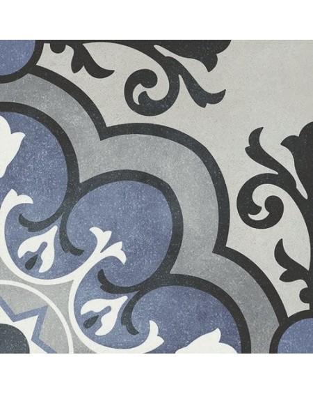 Dlažba obklad se vzorem Art retro patchwork Madeleine Fleur 15x15cm modrobílá výrobce Carmen