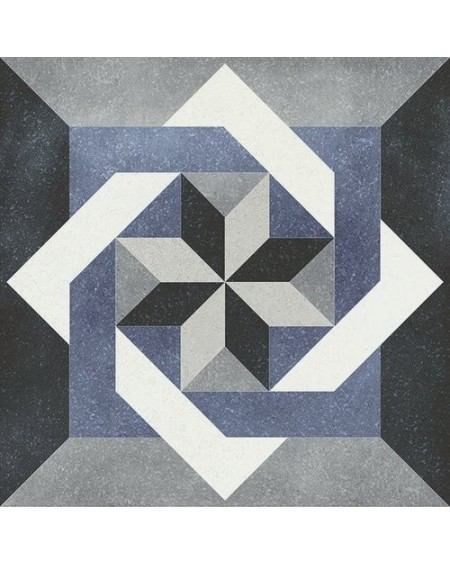 Dlažba obklad se vzorem Art retro patchwork Isabelle Fleur 15x15cm modrobílá výrobce Carmen