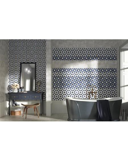 Dlažba obklad se vzorem Art retro patchwork Laure Fleur 15x15cm modrobílá výrobce Carmen