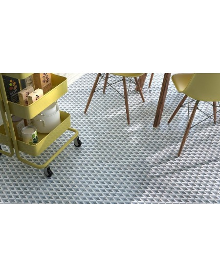 Dlažba obklad se vzorem Art retro patchwork Fiorella ( Fiorella )15x15cm modrobílá výrobce Ape