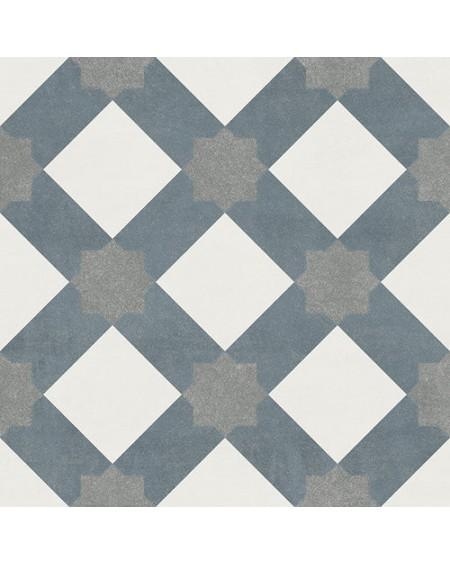 Dlažba obklad se vzorem Art retro patchwork Arabella Fiorella 15x15cm modrobílá výrobce Ape