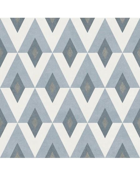 Dlažba obklad se vzorem Art retro patchwork Fiorella ( Fiorella ) 15x15cm modrobílá výrobce Ape