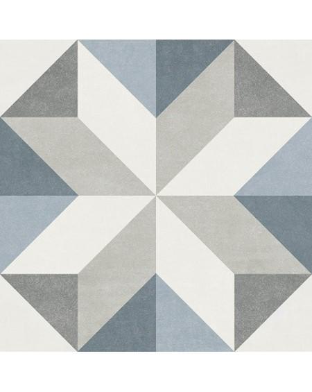 Dlažba obklad se vzorem Art retro patchwork Gina Fiorella 15x15cm modrobílá výrobce Ape