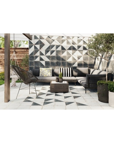 Dlažba obklad Antique Diagonal / black - white NE - MIX černobílá patina 33x33cm výrobce Realonda