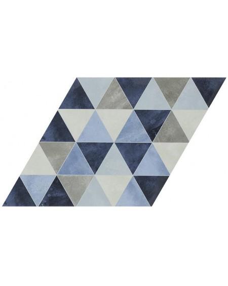 Dlažba obklad se vzorem modrá Diamond Triagle Denim 70x40cm výrobce Realonda