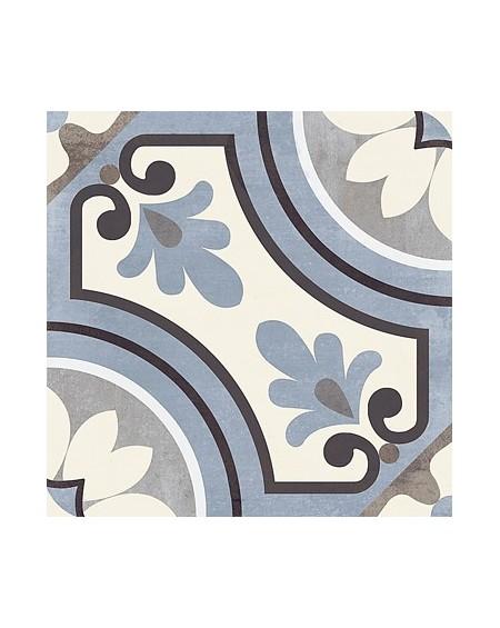 Dlažba obklad art Saint Germain Blu Paris 20x20cm vzorem modrobílá matná retro patchwork výrobce Del Conca Italy