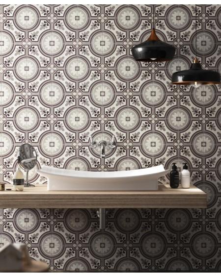 Dlažba obklad art Saint Germain marron Paris 20x20cm vzorem matná retro patchwork výrobce Del Conca Italy
