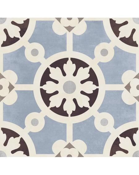 Dlažba obklad art Bercy Blu Paris 20x20cm vzorem modrobílá matná retro patchwork výrobce Del Conca Italy
