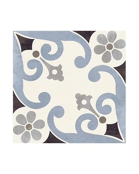 Dlažba obklad art Montmartre Blu Paris 20x20cm vzorem modrobílá matná retro patchwork výrobce Del Conca Italy