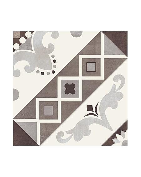 Dlažba obklad art Belleville Marron Paris 20x20cm vzorem matná retro patchwork výrobce Del Conca Italy