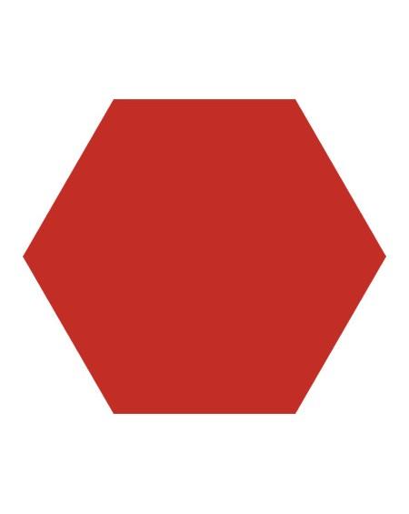 Dlažba obklad Basic Red 22x25cm Hexagon šestihran výrobce Codicer polomat červená