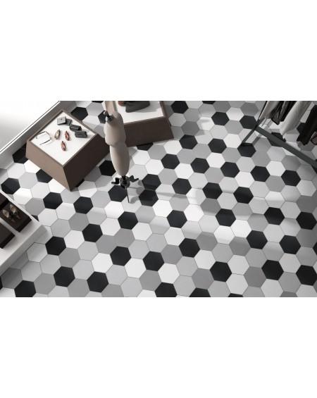 Dlažba obklad Basic Black 22x25cm Hexagon šestihran výrobce Codicer polomat