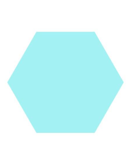 Dlažba obklad Basic Aqua 22x25cm Hexagon šestihran výrobce Codicer polomat tyrkysová