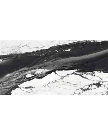 Dlažba obklad Calacatta Renoir C. 60x120cm Lappato Rtt. Černobílá výrobce Emil tl.10mm. Dlažba lesklá