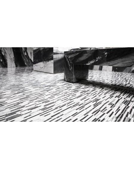 Dlažba obklad Calacatta Renoir 120x240cm BDL černobílá ceramica Emil velkoformátová Rtt. Lesklá tl.6,5mm ultra slim