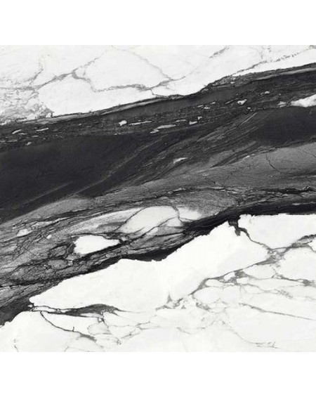 Dlažba obklad Calacatta Renoir C. 90x90cm Lappato Rtt. Černobílá výrobce Emil tl.10mm. Dlažba lesklá