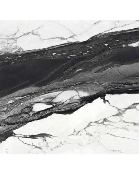 Dlažba obklad Calacatta Renoir 120x120cm C. Černobílá ceramica Emil velkoformátová Rtt. Lesklá tl.6,5mm ultra slim