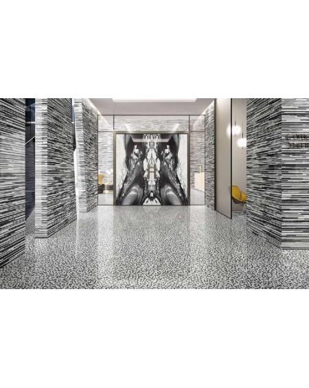 Dlažba obklad Calacatta Renoir 120x120cm SDT černobílá ceramica Emil velkoformátová Rtt. Lesklá tl.6,5mm ultra slim