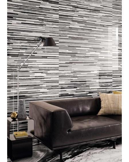 Dlažba obklad Calacatta Renoir 120x240cm D. Černobílá ceramica Emil velkoformátová Rtt. Lesklá tl.6,5mm ultra slim