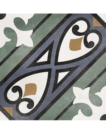 Dlažba obklad se vzorem Art retro patchwork Floriane Mabel 15x15cm zelenošedá výrobce Carmen