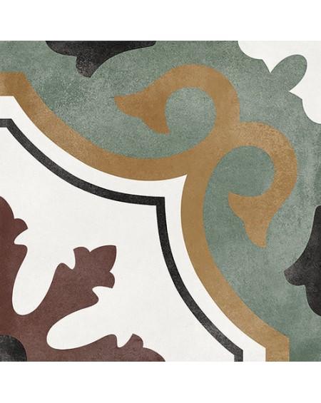 Dlažba obklad se vzorem Art retro patchwork Floriane Olivia 15x15cm zlatozelená výrobce Carmen