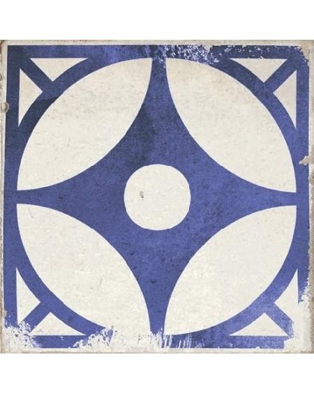 Dlažba obklad se vzorem Art retro patchwork Village Arcos blue 15x15cm modrobílá Maiolica výrobce Carmen