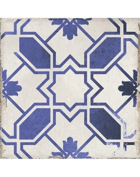 Dlažba obklad se vzorem Art retro patchwork Village Calleta blue 15x15cm modrobílá Maiolica výrobce Carmen