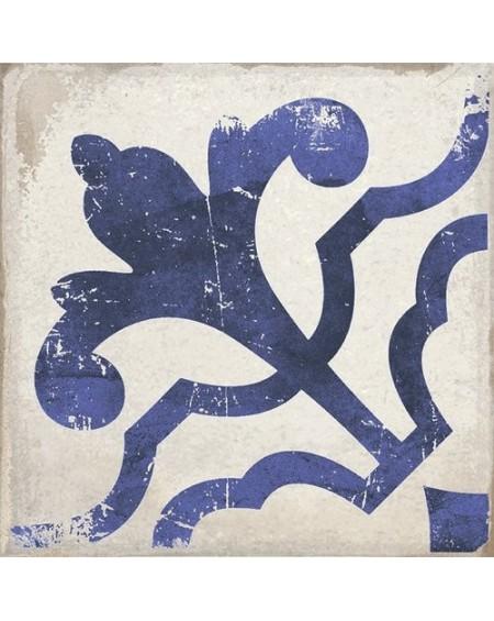 Dlažba obklad se vzorem Art retro patchwork Village Olvera blue 15x15cm modrobílá Maiolica výrobce Carmen