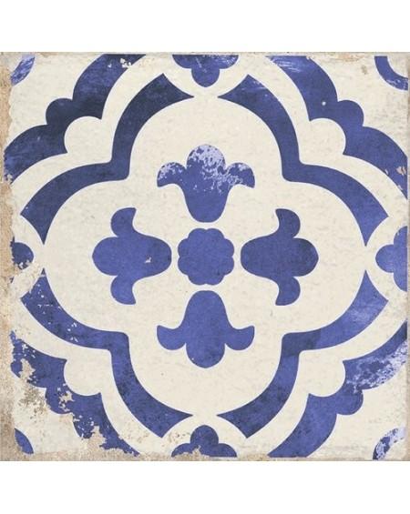 Dlažba obklad se vzorem Art retro patchwork Village Monte blue 15x15cm modrobílá Maiolica výrobce Carmen
