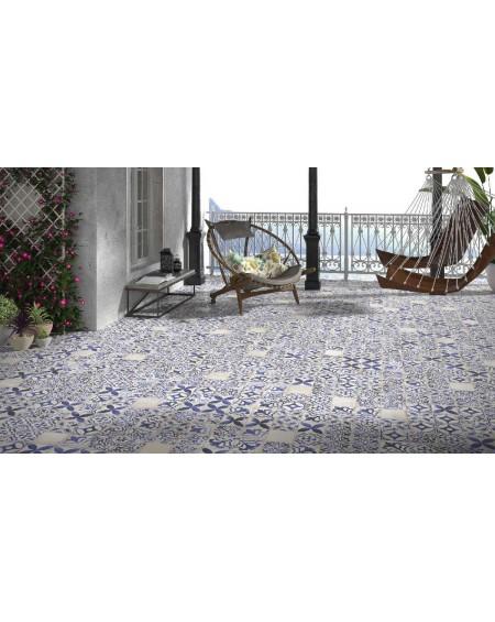 Dlažba obklad se vzorem Art retro patchwork Village Olvera blue MIX 15x15cm modrobílá Maiolica výrobce Carmen
